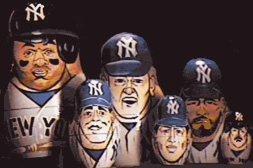 1995 Yankees World Champs Russian Dolls